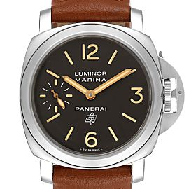 Panerai Luminor Acciaio Logo Tropical Brown Dial 44mm Watch PAM00632 Box Papers