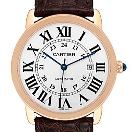 Cartier Ronde Solo XL Rose Gold Steel Mens Watch