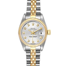 Rolex Datejust 26 Steel Yellow Gold Diamond Ladies Watch 79173