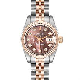 Rolex Datejust EveRose Gold Steel Diamond Ladies Watch