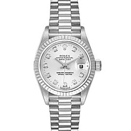 Rolex President Ladies White Gold Diamond Ladies Watch 79179