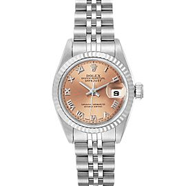Rolex Datejust Steel White Gold Salmon Dial Ladies Watch