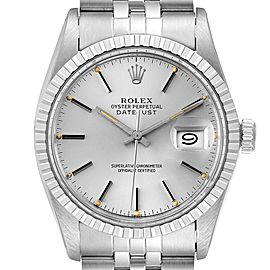 Rolex Datejust Silver Dial Vintage Steel Mens Watch 16030