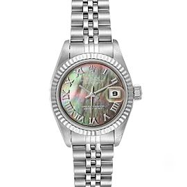 Rolex Datejust Steel White Gold MOP Dial Ladies Watch