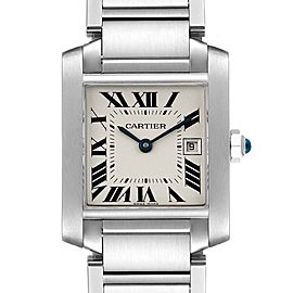 Cartier Tank Francaise Midsize 25mm Ladies Watch W51011Q3 Box