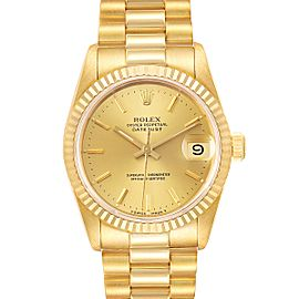 Rolex President Datejust 31mm Midsize Yellow Gold Ladies Watch