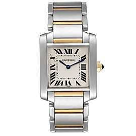Cartier Tank Francaise Midsize Two Tone Ladies Watch W2TA0003