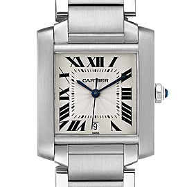 Cartier Tank Francaise Large Steel Automatic Mens Watch
