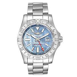 Breitling Aeromarine Avenger II GMT Blue MOP Dial Watch