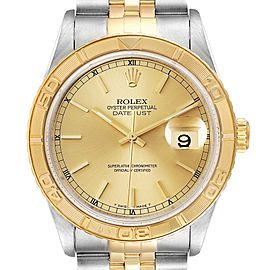 Rolex Datejust Turnograph Steel Yellow Gold Mens Watch 16263