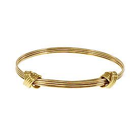 18K Yellow Gold Asprey Knot Bangle Bracelet