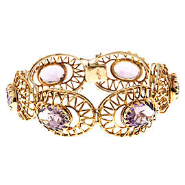 18K Yellow Gold with 5.40ct Amethyst Bracelet