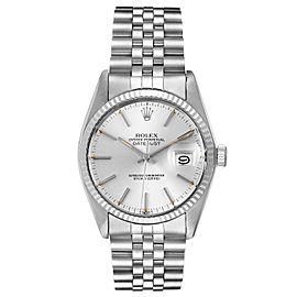 Rolex Datejust Steel White Gold Silver Dial Vintage Mens Watch 16014