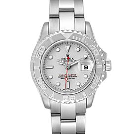 Rolex Yachtmaster 29 Steel Platinum Ladies Watch