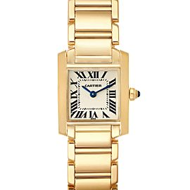 Cartier Tank Francaise Yellow Gold Quartz Ladies Watch