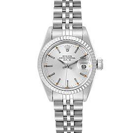 Rolex Date Steel White Gold Jubilee Bracelet Ladies Watch 69174