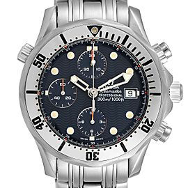 Omega Seamaster Chronograph Blue Dial Steel Mens Watch 2598.80.00
