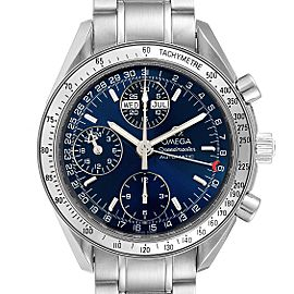Omega Speedmaster Day-Date Blue Dial Steel Mens Watch