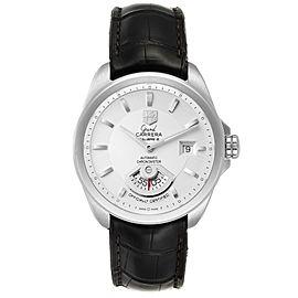 Tag Heuer Grand Carrera Date Silver Dial Steel Mens Watch WAV511B