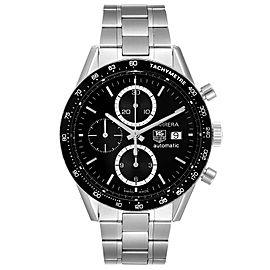Tag Heuer Carrera Tachymeter Chronograph Steel Mens Watch CV2010