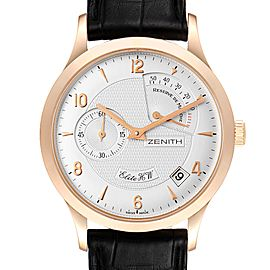 Zenith Reserve De Marche Elite HW 18k Rose Gold Mens Watch 11.1125.655