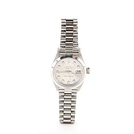 Rolex Oyster Perpetual Datejust Automatic Watch Platinum with Diamonds 26
