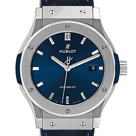 Hublot Classic Fusion Titanium 42mm Blue Dial Mens Watch