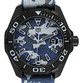 Tag Heuer Aquaracer Calibre 5 Black PVD Titanium Mens Watch WAY208D