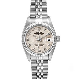 Rolex Datejust 26 Steel White Gold Anniversary Dial Ladies Watch