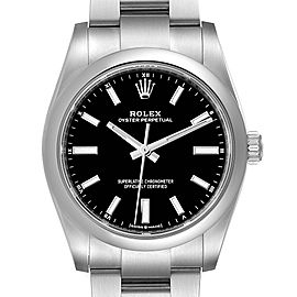 Rolex Oyster Perpetual 34mm Black Dial Steel Watch
