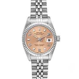 Rolex Datejust 26 Steel White Gold Salmon Dial Ladies Watch