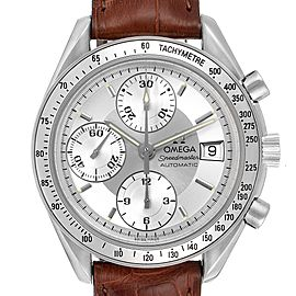 Omega Speedmaster Date Silver Dial Automatic Steel Mens Watch