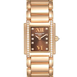 Patek Philippe Twenty-4 Small 18K Rose Gold Diamond Ladies Watch