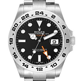 Rolex Explorer II 42 Black Dial Orange Hand Steel Mens Watch 216570