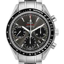 Omega Speedmaster Date Gray Dial Mens Watch 323.30.40.40.06.001 Card