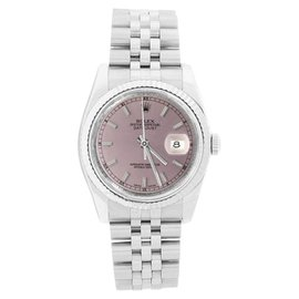 Rolex Datejust 116234 Stainless Steel with Salmon Stick Dial 36mm Mens Watch