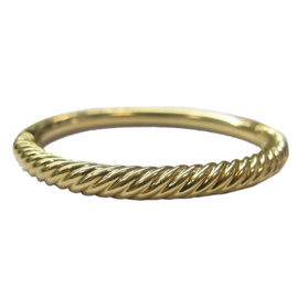David Yurman 18K Yellow Gold Signature Bangle