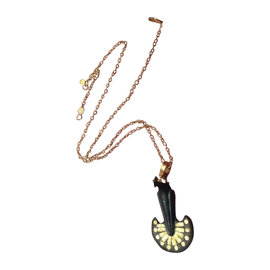 Gurhan Pantheon 24K Yellow Gold & Bronze Peacock Pendant Necklace