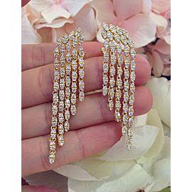 Sonia B. 18K Yellow Gold 4.46ctw Diamond Waterfall Drop Earrings