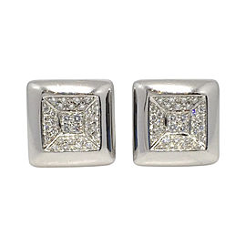 Damiani 18K White Gold & 0.80ctw. Diamond Earrings