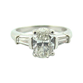 Tiffany & Co. Platinum and Diamond Engagement Ring Size 4.5