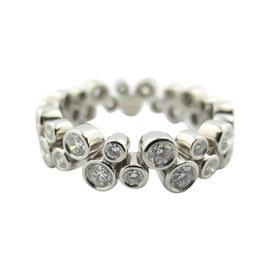 Tiffany & Co. Platinum Pt950 Diamond Bubbles Band Ring