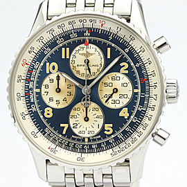 Polished BREITLING Navitimer Airborne Chronograph Steel Watch A33030