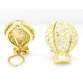 18K Yellow Gold 8.00ctw Diamond Earrings