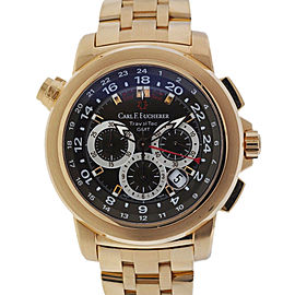 Carl F Bucherer Patravi TravelTec GMT 18K Rose Gold Chronograph Watch