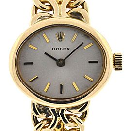 Vintage Rolex 22mm 14K Yellow Gold Ladies Watch
