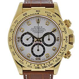 Rolex 16518 Zenith Daytona 40mm 18K Yellow Gold & Leather Chronograph Watch