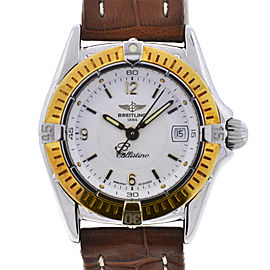 Breitling Callistino D52045 Ladies Two Tone Leather Quartz Watch