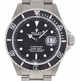 Rolex 16610 Submariner 40mm Black Dial Stainless Steel Watch