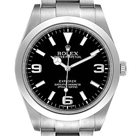 Rolex Explorer I Luminescent Arabic Numerals Mens Watch 214270